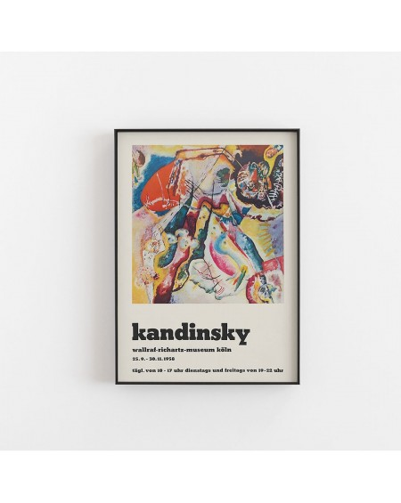 Empty Wall - Plakat Wassily Kandinsky - Poster for the exhibition of Kandsinsky at Wallraf-Richarz-Museum in Koln 1958 - Plakaty Skandynawskie