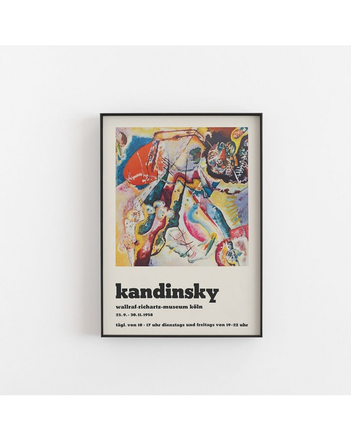 Plakat, Wassily Kandinsky - Poster for the exhibition of Kandsinsky at Wallraf-Richarz-Museum in Koln 1958