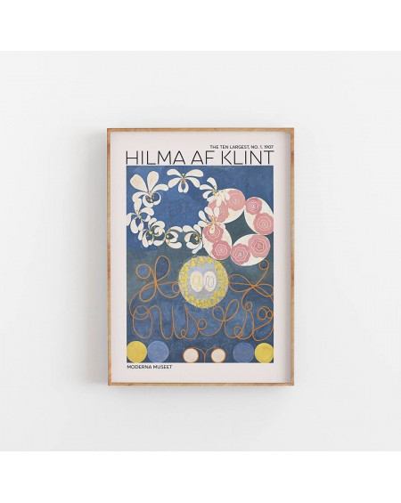 Empty Wall - Plakat Hilma Af Klint - The Ten Largest NO. 1 - Plakaty Skandynawskie