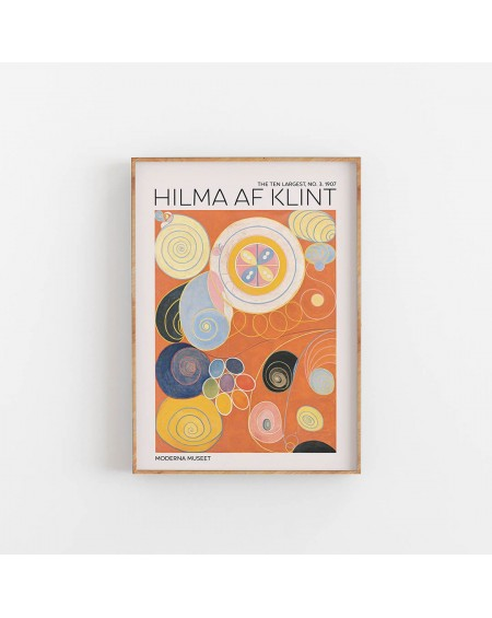 Empty Wall - Plakat Hilma Af Klint - The Ten Largest NO. 3 - Plakaty Skandynawskie
