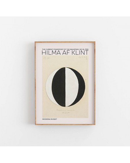 Empty Wall - Plakat Hilma Af Klint - The Current Standpoint - Plakaty Skandynawskie