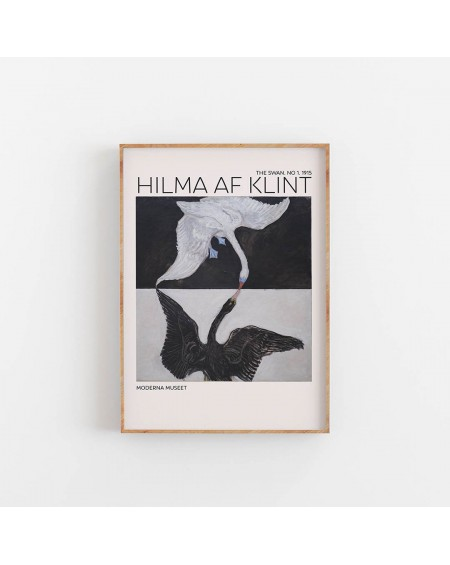 Empty Wall - Plakat Hilma Af Klint - The Swan NO. 1 - Plakaty Skandynawskie