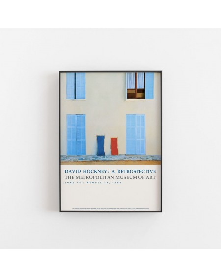 Empty Wall - Plakat David Hockney - A Retrosrective - Plakaty Skandynawskie