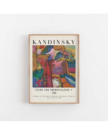 Empty Wall - Plakat Kandinsky - Study of Improvisation V - Plakaty Skandynawskie