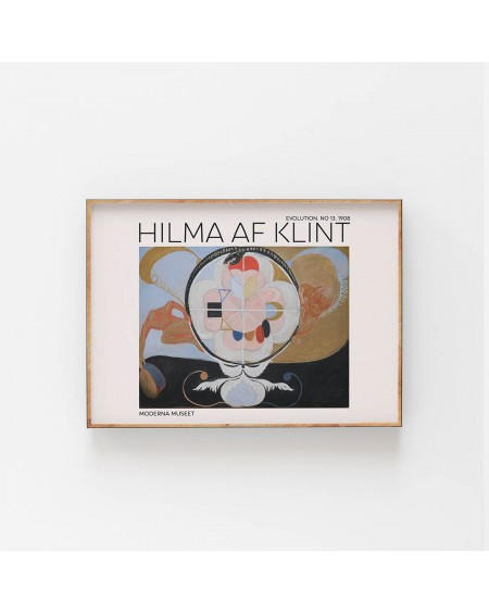 Empty Wall - Plakat Hilma Af Klint - Evolution NO. 13 - Plakaty Skandynawskie