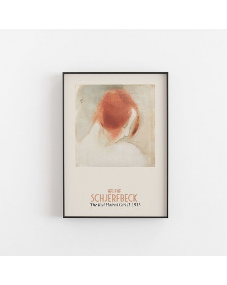Empty Wall - Plakat Helene Schjerfbeck - The red haired Girl II. 1915 - Plakaty Skandynawskie