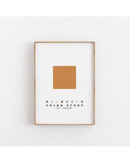 Empty Wall - Plakat Color Study Orange Square by MAGOSC - Plakaty Skandynawskie