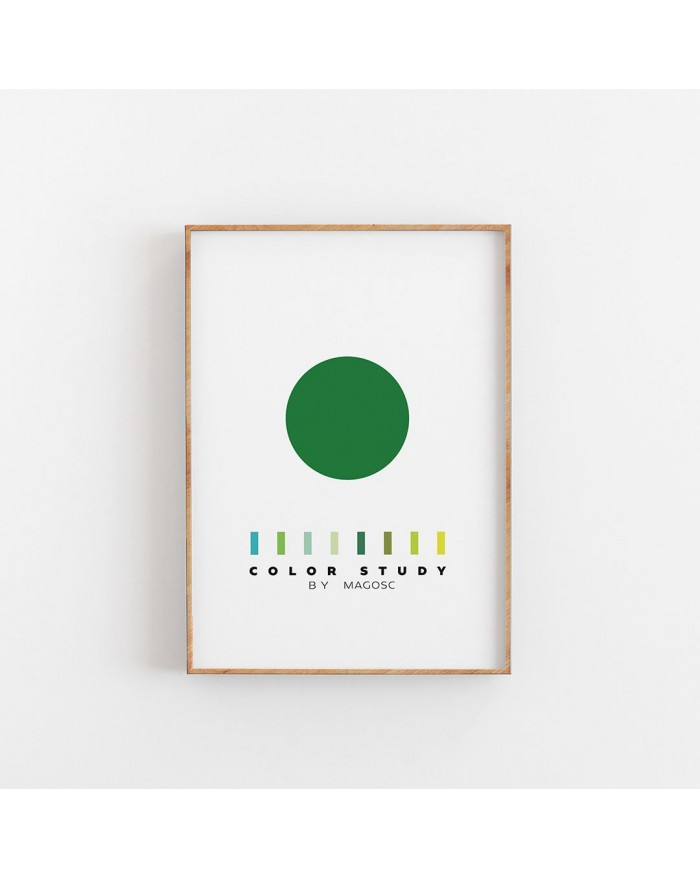 Plakat Color Study Green Circle by MAGOSC