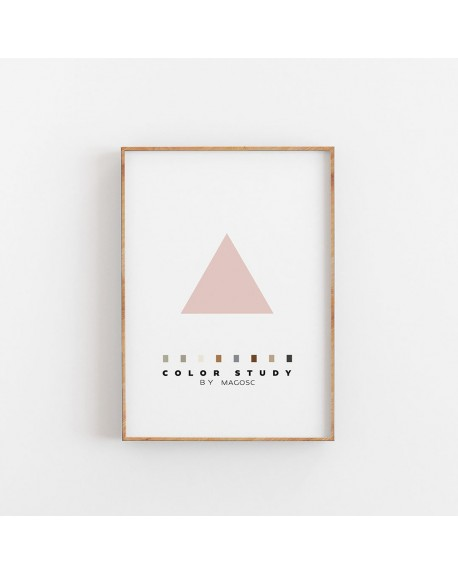 Empty Wall - Plakat Color Study Rose Triangle by MAGOSC - Plakaty Skandynawskie