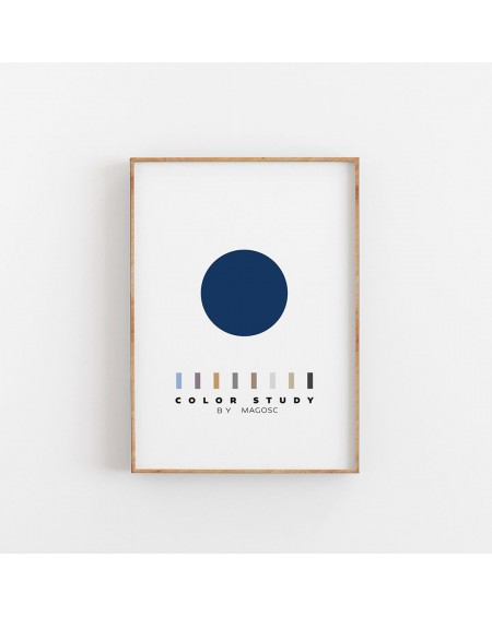 Empty Wall - Plakat Color Study Blue Circle by MAGOSC - Plakaty Skandynawskie