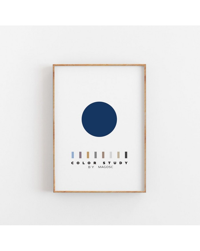Plakat Color Study Blue Circle by MAGOSC
