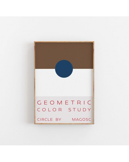Empty Wall - Plakat Geometric Color Study by MAGOSC I - Plakaty Skandynawskie
