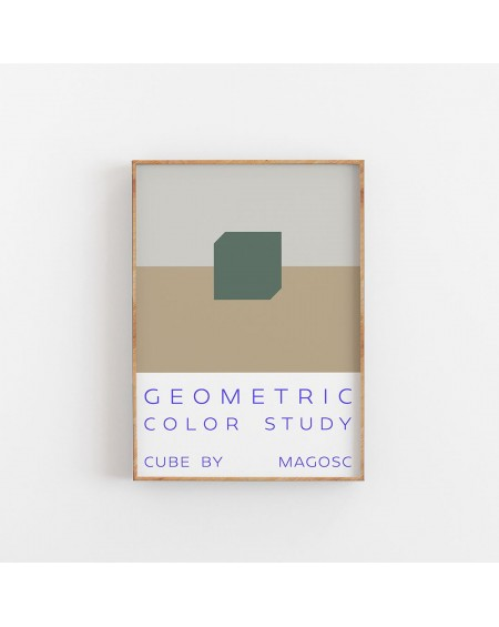 Empty Wall - Plakat Geometric Color Study by MAGOSC II - Plakaty Skandynawskie