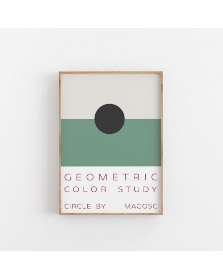 Empty Wall - Plakat Geometric Color Study by MAGOSC III - Plakaty Skandynawskie