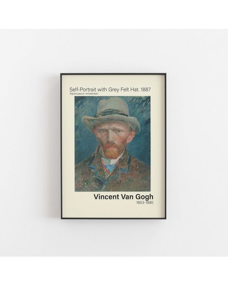 Empty Wall - Plakat Van Gogh - Self-Portrait with Grey Felt Hat, 1887 - Plakaty Skandynawskie