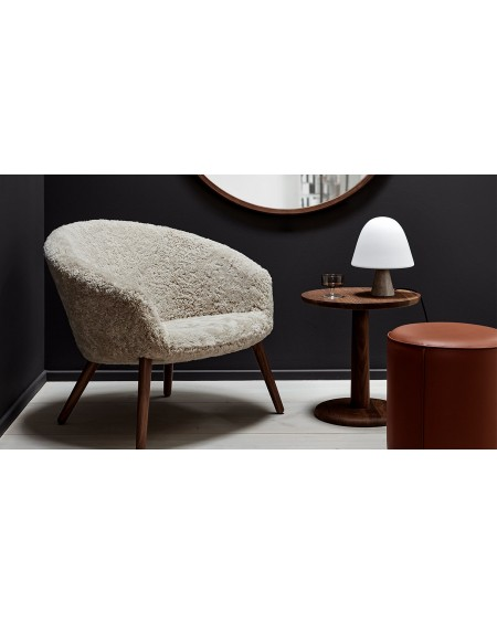 Ditzel Lounge Chair - Sheepskin by Fredericia, walnut