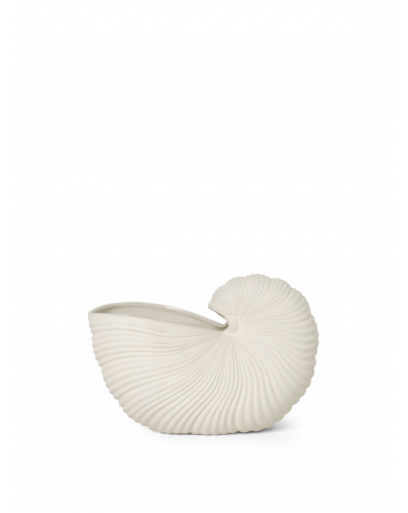 Ferm Living - Shell Pot, Off-White - Donice i Wazony