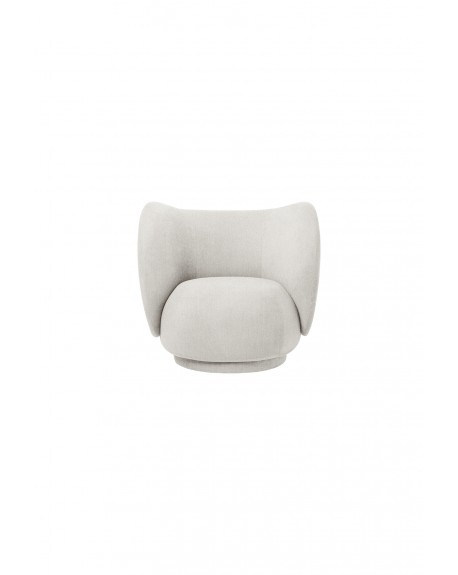 Ferm Living - Rico Lounge Chair - Boucle - Fotele Skandynawskie
