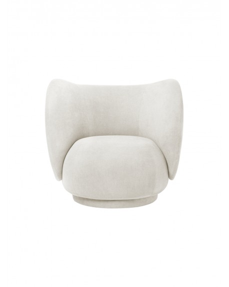 Ferm Living - Rico Lounge Chair - Brushed - Fotele Skandynawskie