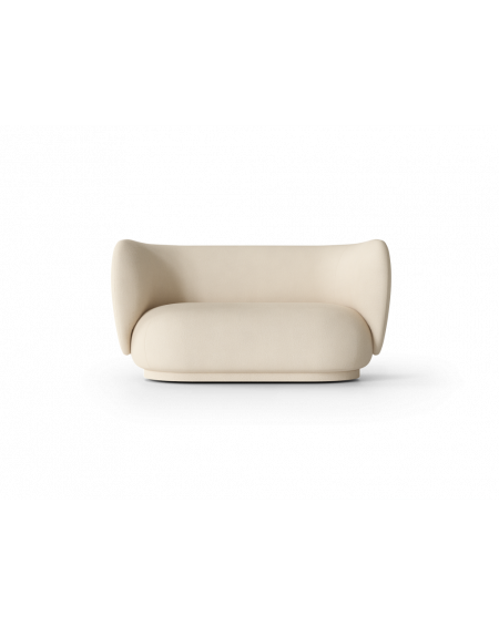Ferm Living - Rico 2-seater- Brushed - Sofy Skandynawskie