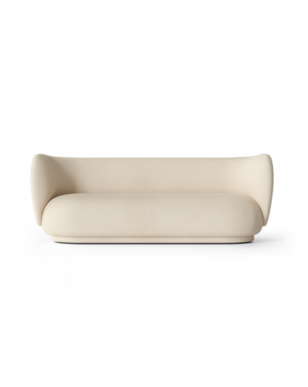 Ferm Living - Rico 3 Seater- Brushed - Sofy Skandynawskie