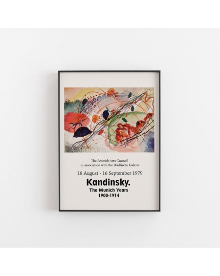 Empty Wall - Plakat Kandinsky - The Munich Years I - Plakaty Skandynawskie