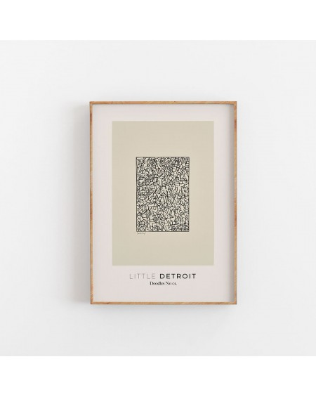 Empty Wall - Plakat Doodles No. 01 - Little Detroit - Plakaty Skandynawskie