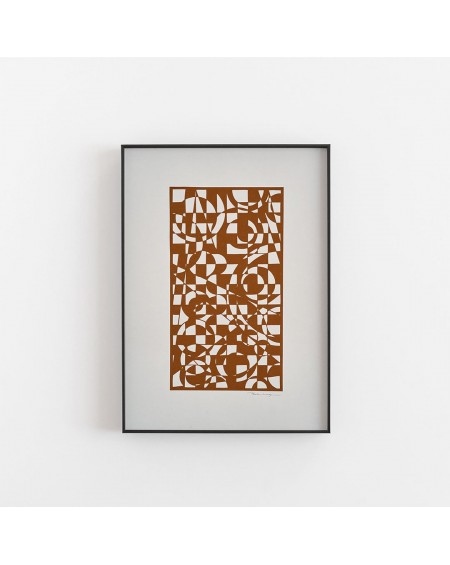 Empty Wall - Plakat Brown shapes - Papir Vaerk - Plakaty Skandynawskie