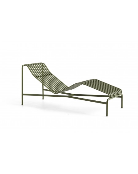 HAY - Palissade Chaise Longue - Meble ogrodowe