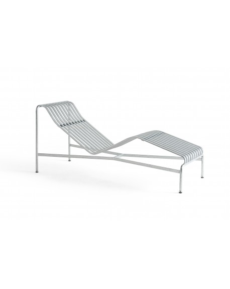 HAY - Palissade Chaise Longue Hot Galvanised - Meble ogrodowe