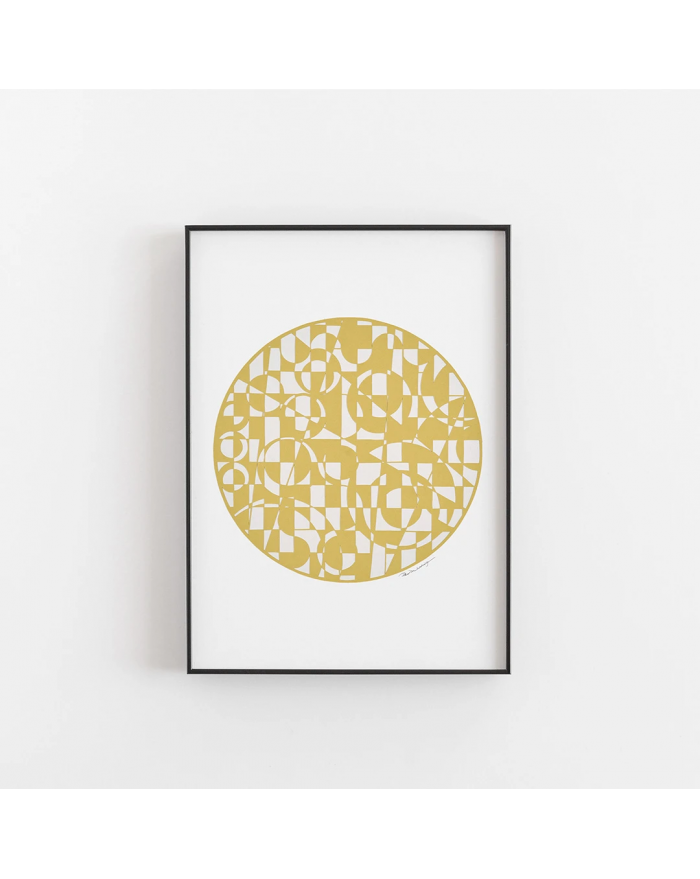 Plakat Yellow Circle - Papir Vaerk
