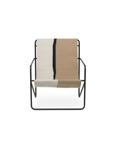 Ferm Living - Desert Lounge Chair- Soil - Meble ogrodowe
