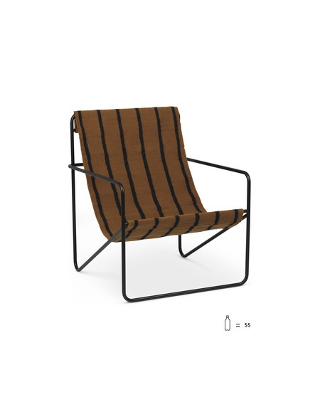 Ferm Living - Desert Lounge Chair- Stripe - Fotele Skandynawskie