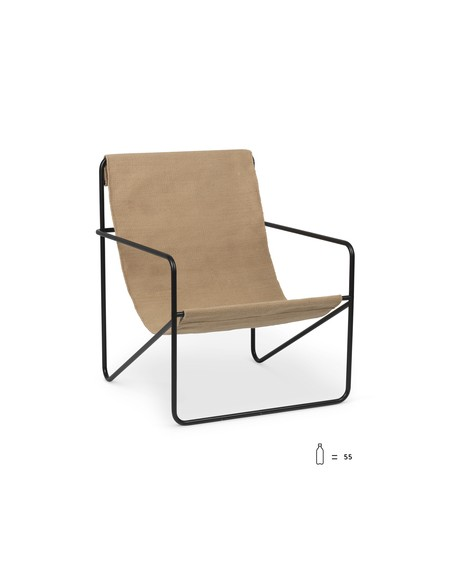 Ferm Living - Desert Lounge Chair- Sand - Fotele Skandynawskie