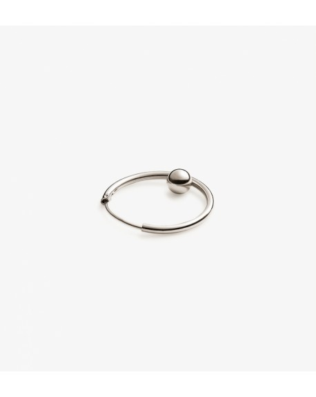 Trine Tuxen - Hoop Bullet l earrings - Biżuteria