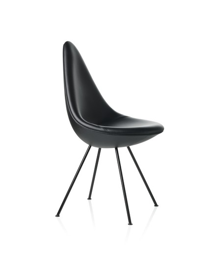 Drop chair leather black edition