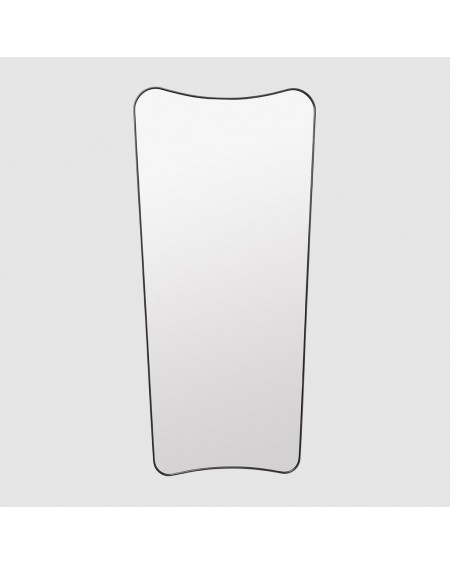 Gubi - F.A 33 Wall mirror 69x146 Black Brass - Lustra Skandynawskie