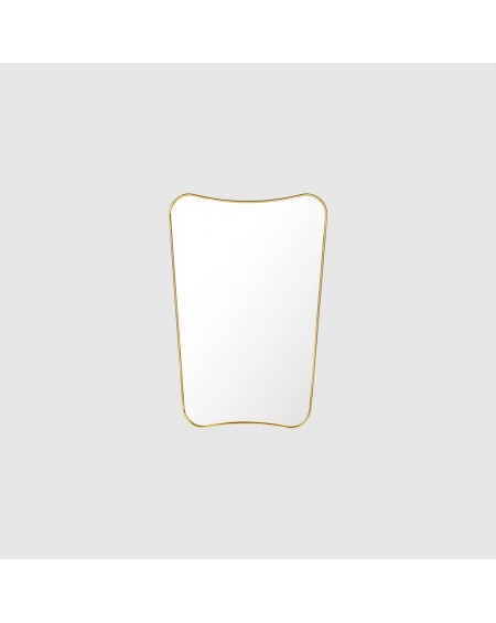 Gubi - F.A. 33 Wall mirror 54x80 polished brass - Lustra Skandynawskie