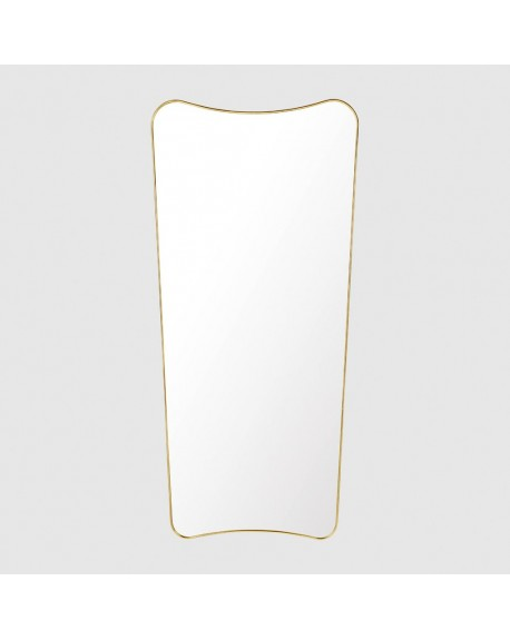 Gubi - F.A. 33 Wall mirror 69x146 polished brass - Lustra Skandynawskie
