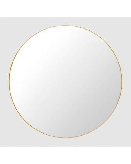 Gubi - GUBI Wall mirror polished brass - Lustra Skandynawskie