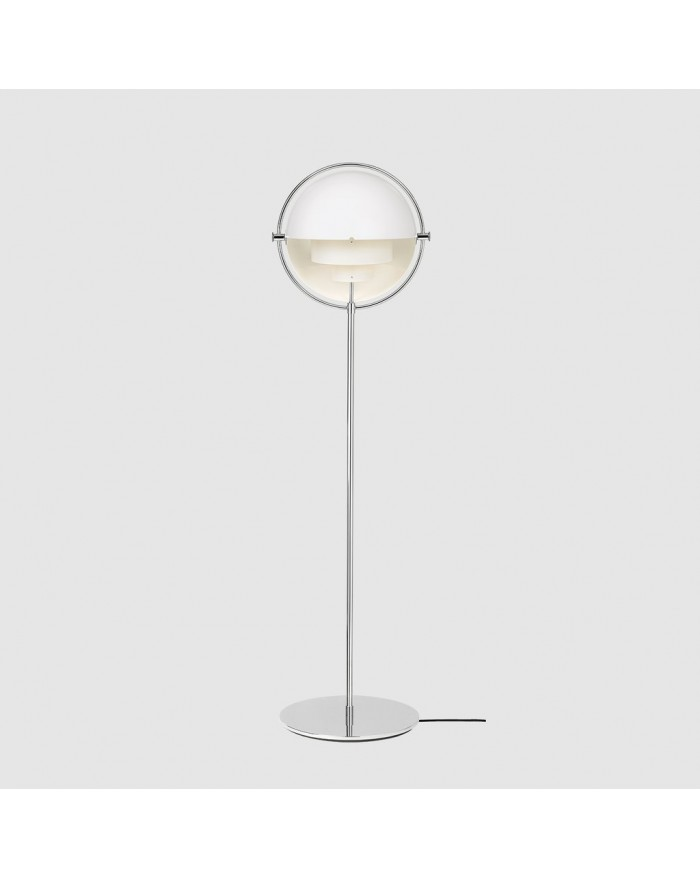 Multi-Lite Floor lamp Chrome base