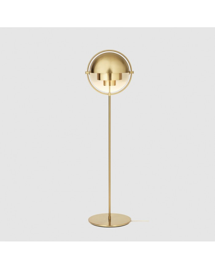 Multi-Lite Floor lamp Brass base