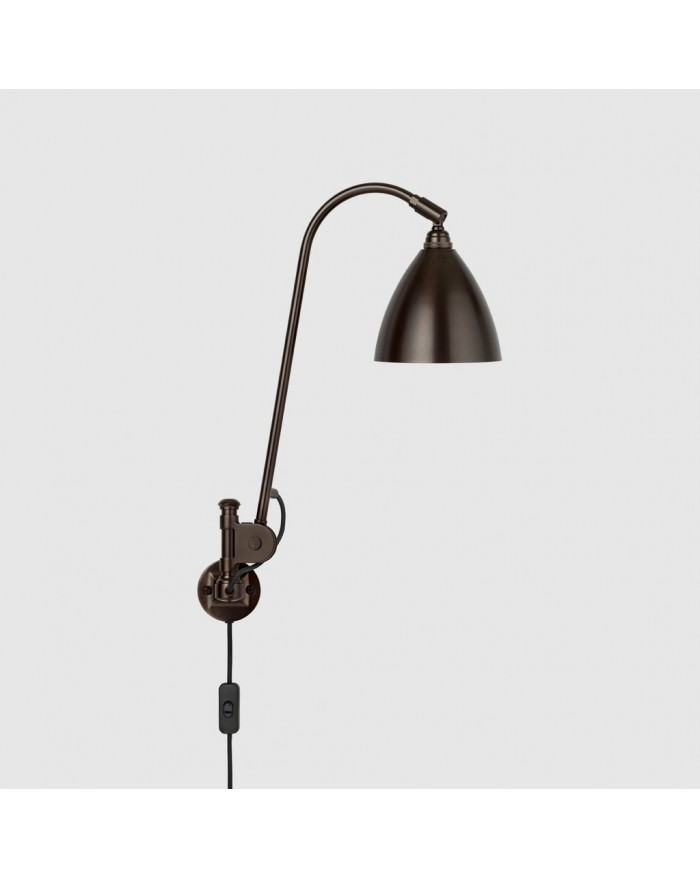 BL6 Wall lamp- Black brass base